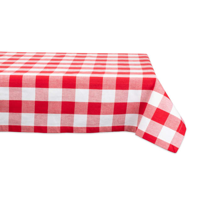 Red and White Buffalo Check Tablecloth 60x120