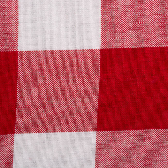 Red and White Buffalo Check Tablecloth 60x84