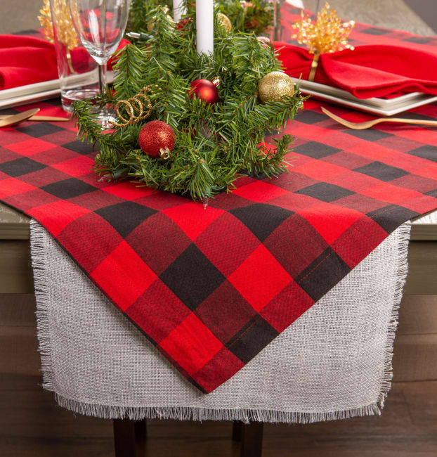 Red Buffalo Check Table Topper 40x40