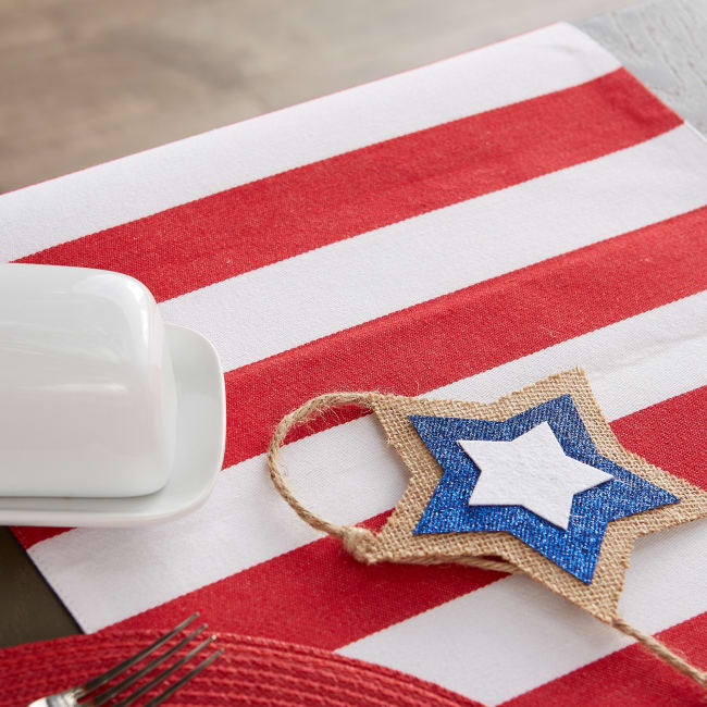 Stars and Stripes Jacquard Table Runner 14x72