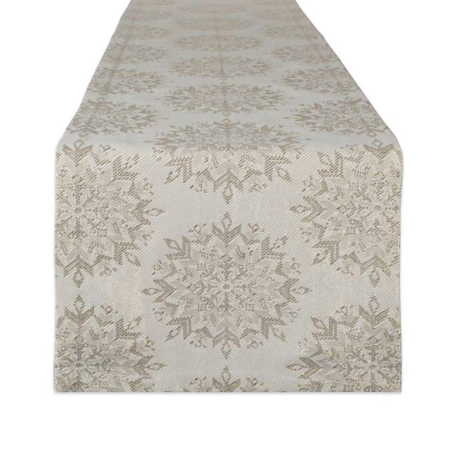 Winter Sparkle Jacquard Table Runner 14x72