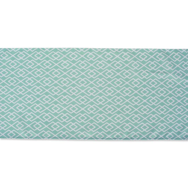 Aqua Diamond Outdoor Table Runner 14x72