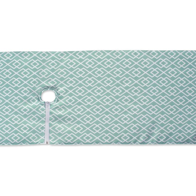 Aqua Diamond Outdoor Table Runner With Zipper 14x72