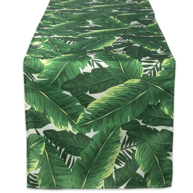 Banana Leaf Outdoor Table Runner 14x72