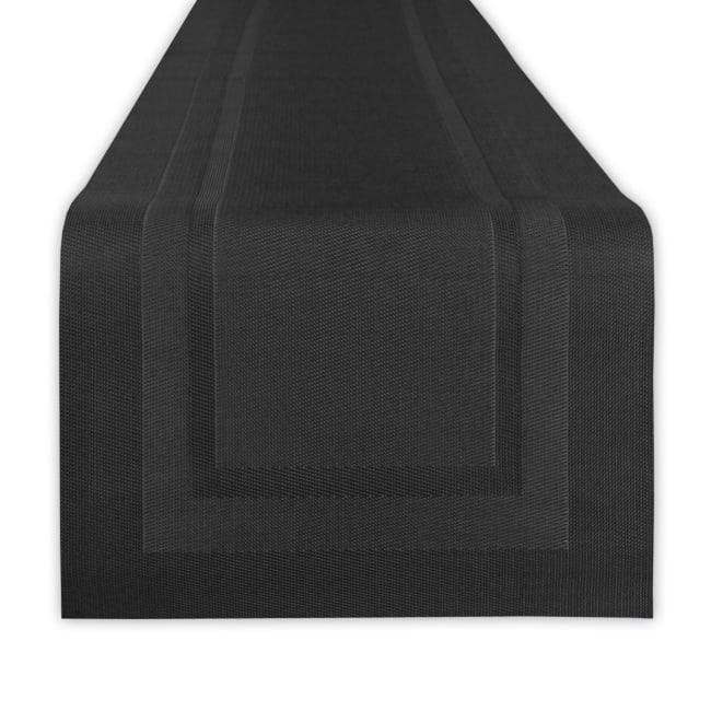 Black PVC Doubleframe Table Runner 14x72