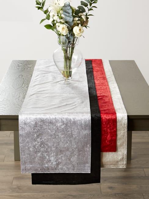 Black Velvet Table Runner