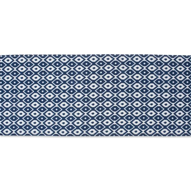 Blue Ikat Outdoor Table Runner 14x108