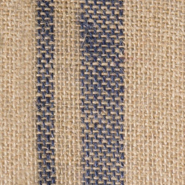 French Blue Double Border Burlap Table Runner 14x72