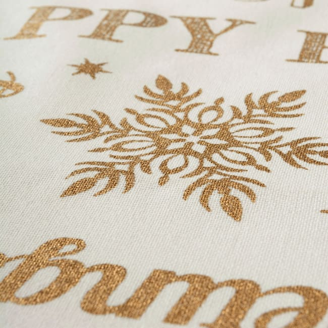Gold Christmas Collage Tablecloth 60x84