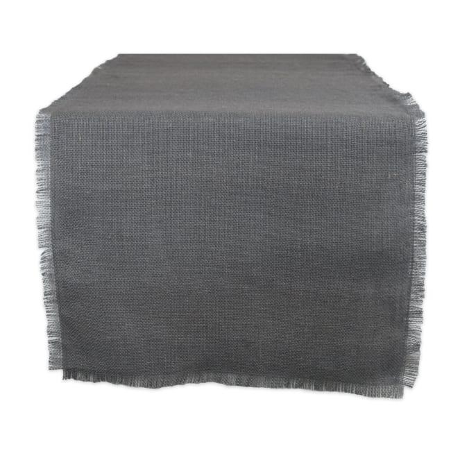 Gray Jute Table Runner 15x48