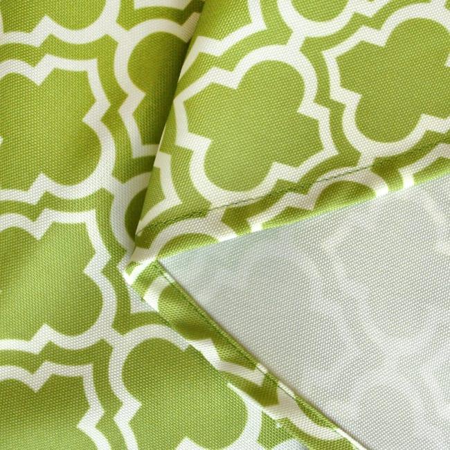 Green Lattice Outdoor Tablecloth With Zipper 60x120