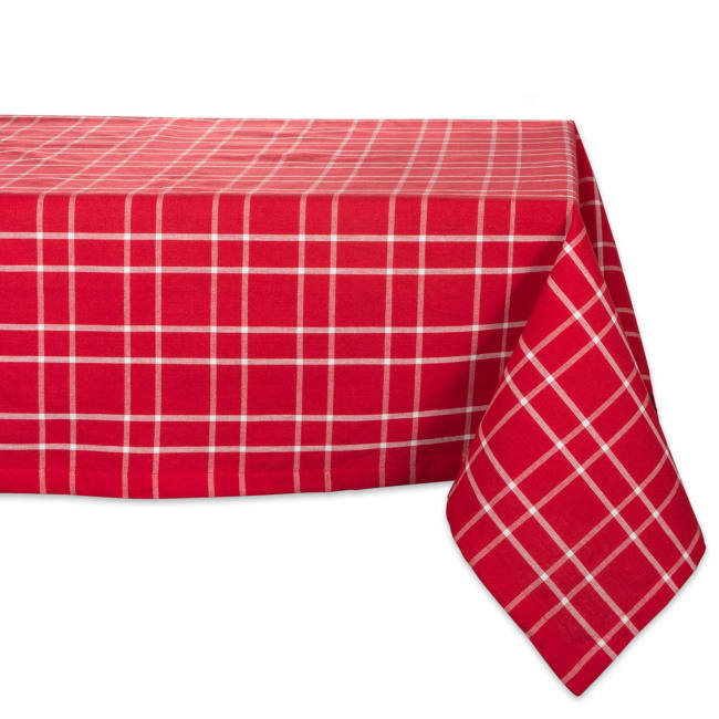 Holly Berry Plaid Tablecloth 60x84