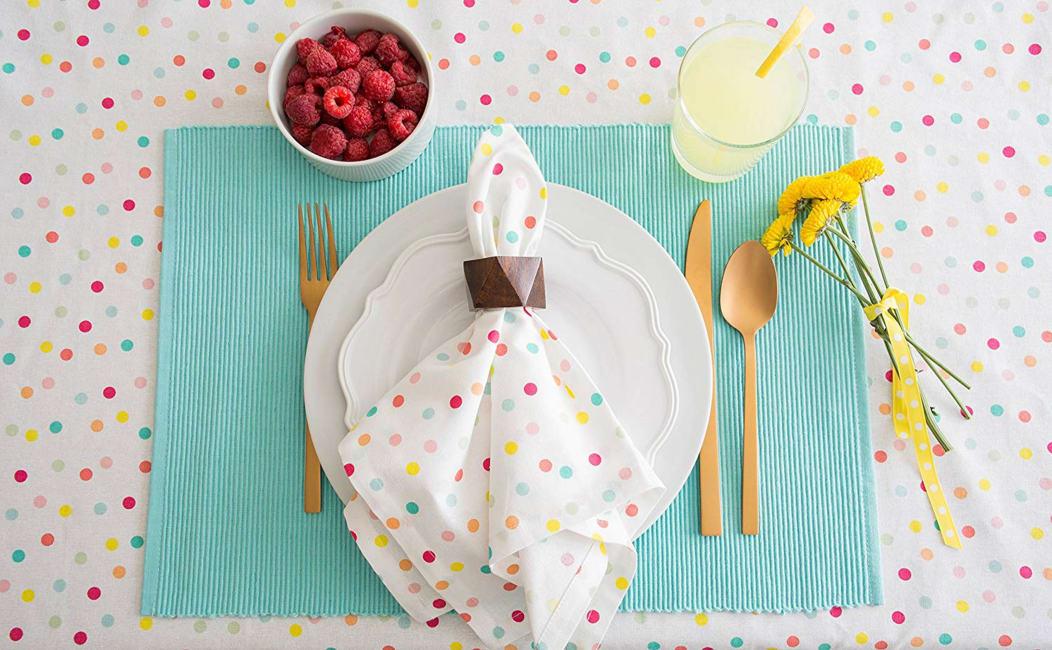 Multi Polka Dots Print Tablecloth 52x52