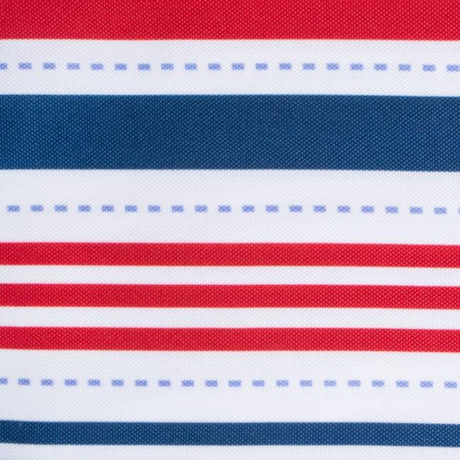 Patriotic Stripe Outdoor Table Runner With Zipper 14x72