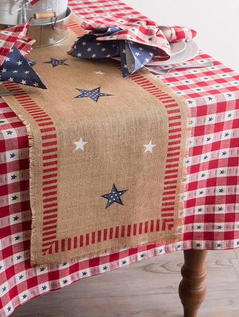 Star Check Tablecloth 60x120