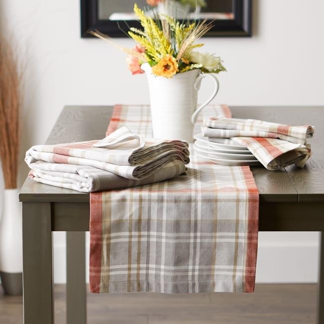 Thanksgiving Cozy Picnic, Plaid Tablecloth 60x120