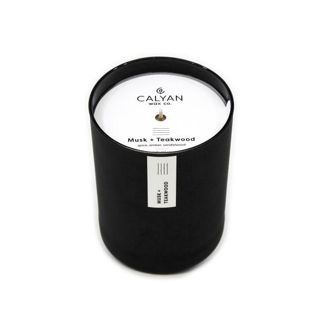 Calyan Wax Co Musk/Teakwood Soy Wax Candle Black Tumbler