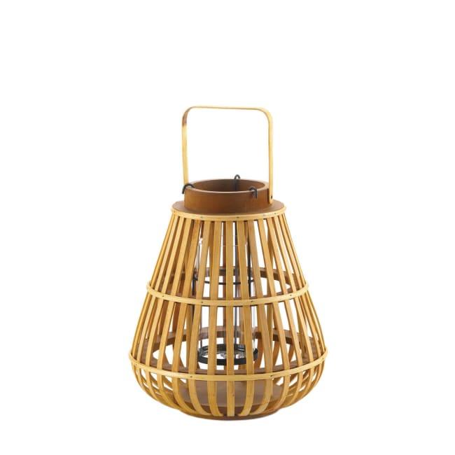 Small Slat Wood Lantern