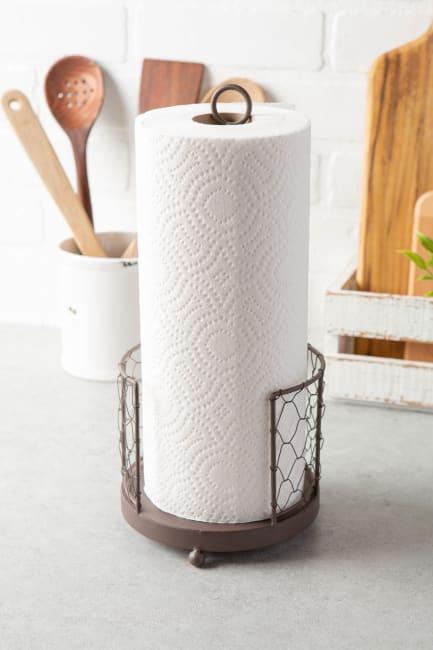 Chicken Wire Paper Towel Holder Rustic