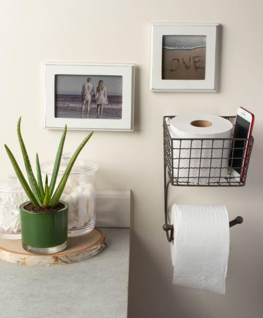 Farmhouse Toilet Paper Holder Grey