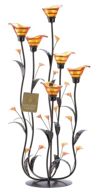 Amber Calla Lily Candleholder
