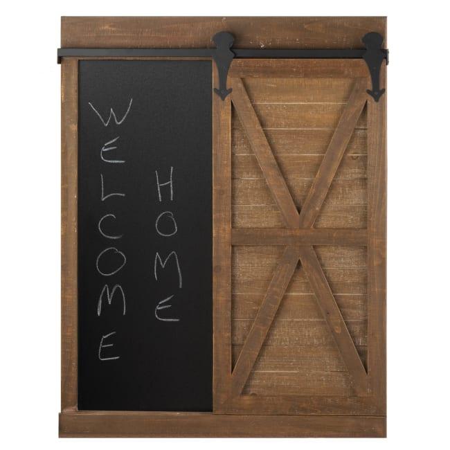 Chalkboard And Mirror With Barn Door