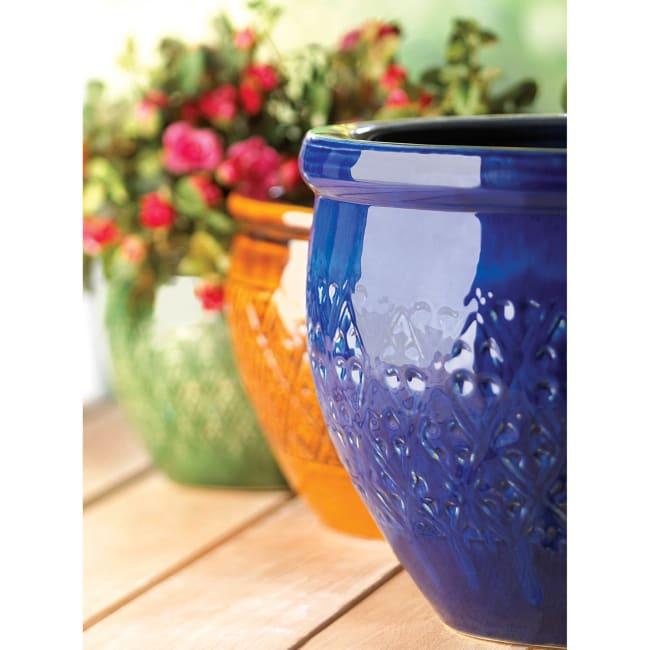 Jewel-Tone Flower Pot Trio