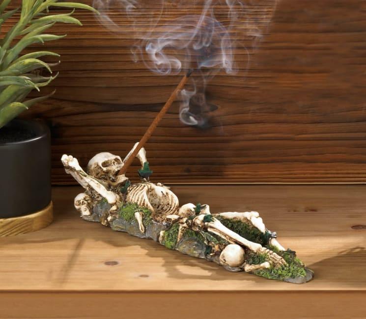 Skeleton Incense Burner Holder