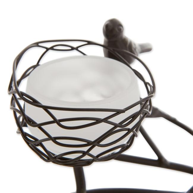 Triple Tealight Birdies Candleholder