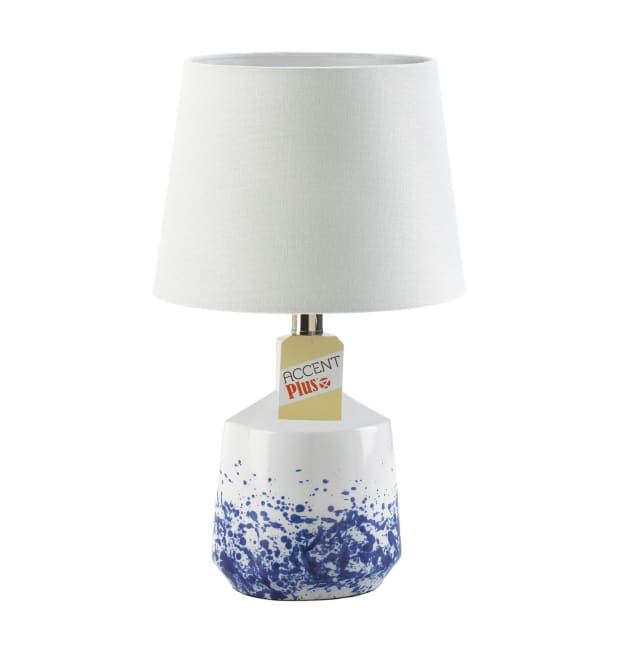 White And Blue Splash Table Lamp