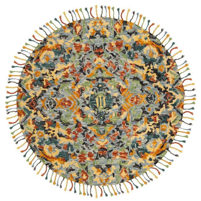 Safavieh Blue Wool Rug 8' Round