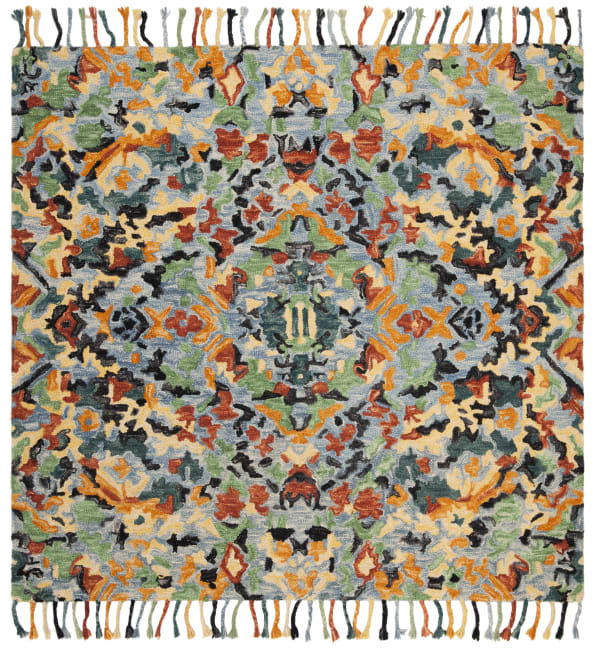 Safavieh Blue Wool Rug 8' x 8'