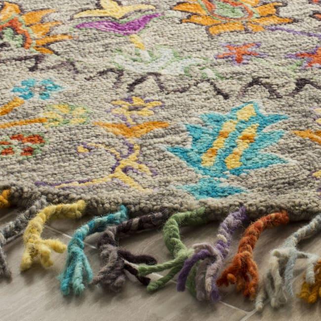 Safavieh Gray Wool Rug 8' Round