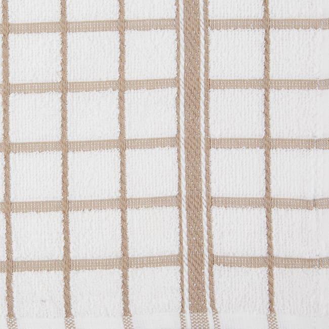 Stone Windowpane Terry Dishtowel (Set of 4)