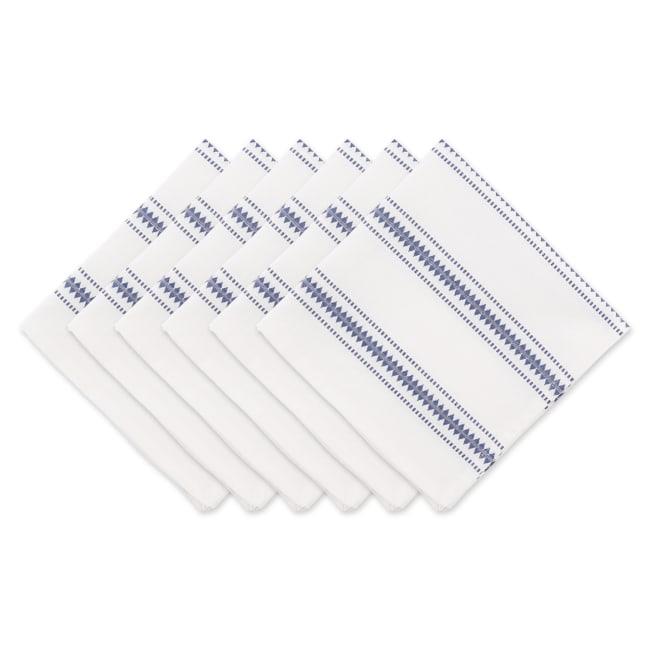 French Blue Zig Dobby Stripe Napkin (Set of 6)