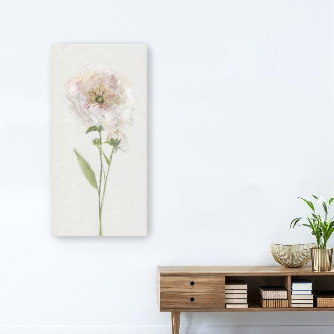 Single Stem Peony II Canvas Giclee