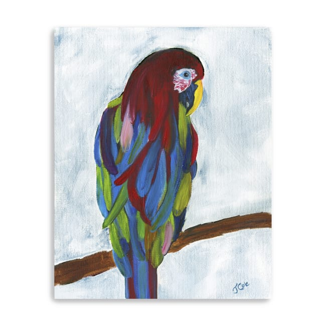Tropical Parrot Canvas Giclee