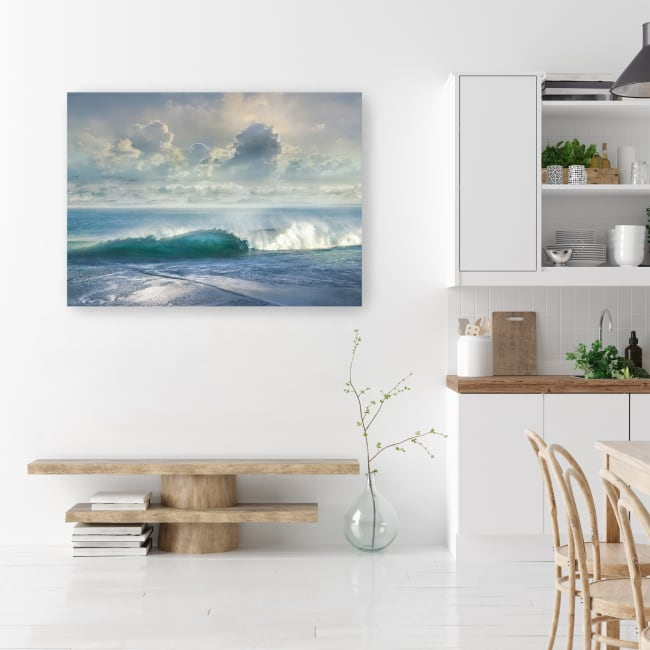 Watching The Waves Canvas Giclee