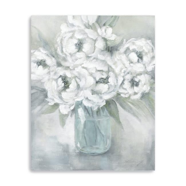 Peaceful Peonies Canvas Giclee