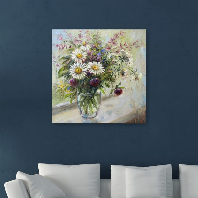 Tatiana's Daisies Canvas Giclee