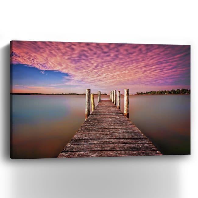 Pink Pier Canvas Giclee