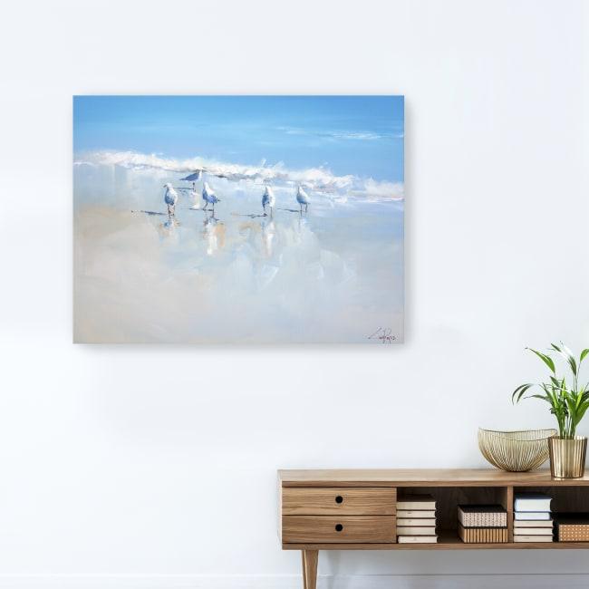 Sorrento Gulls Canvas Giclee