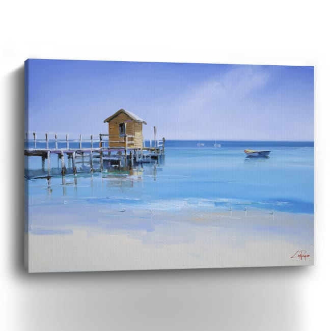 The Yellow Shed Canvas Giclee