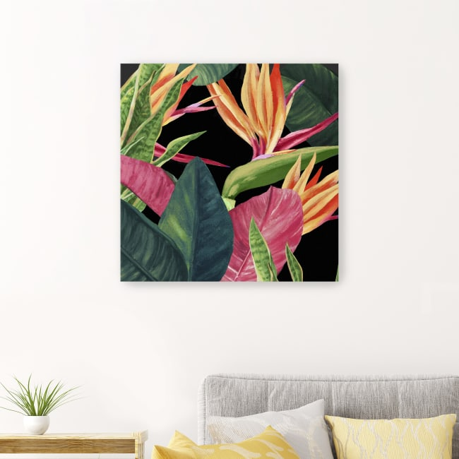 Green Palms Canvas Giclee
