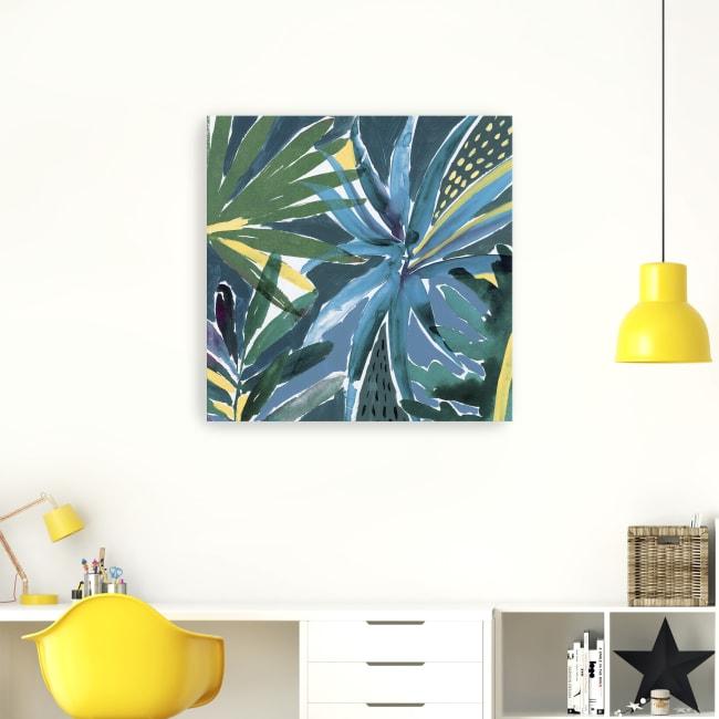 Tropical Blues Canvas Giclee