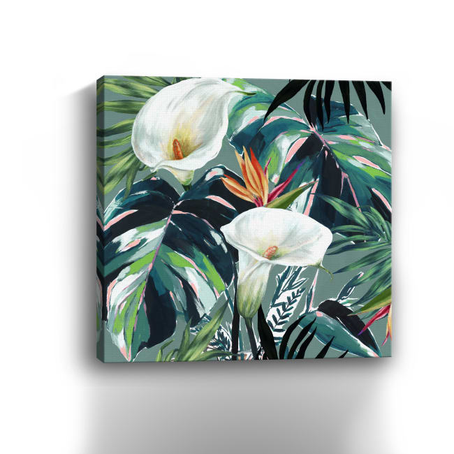 White Lily Paradise Canvas Giclee