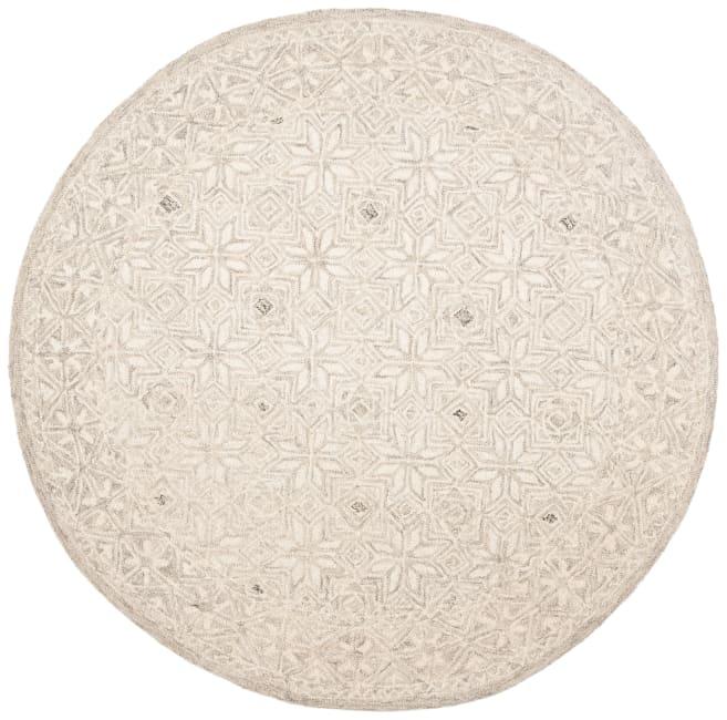Safavieh Essence Silver Wool Round Rug