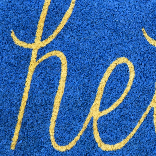 Blue Hello Doormat