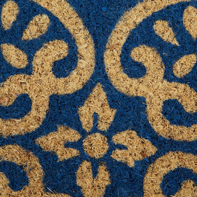 Blue Tunisia Scroll Doormat