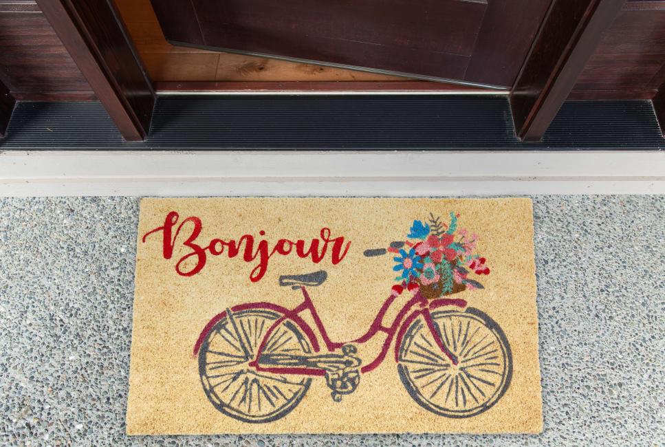 Bonjour Bike Doormat